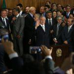 Brasília - O presidente interino Michel Temer durante cerimônia de posse aos novos ministros de seu governo, no Palácio do Planalto (Marcello Casal Jr/Agência Brasil)
