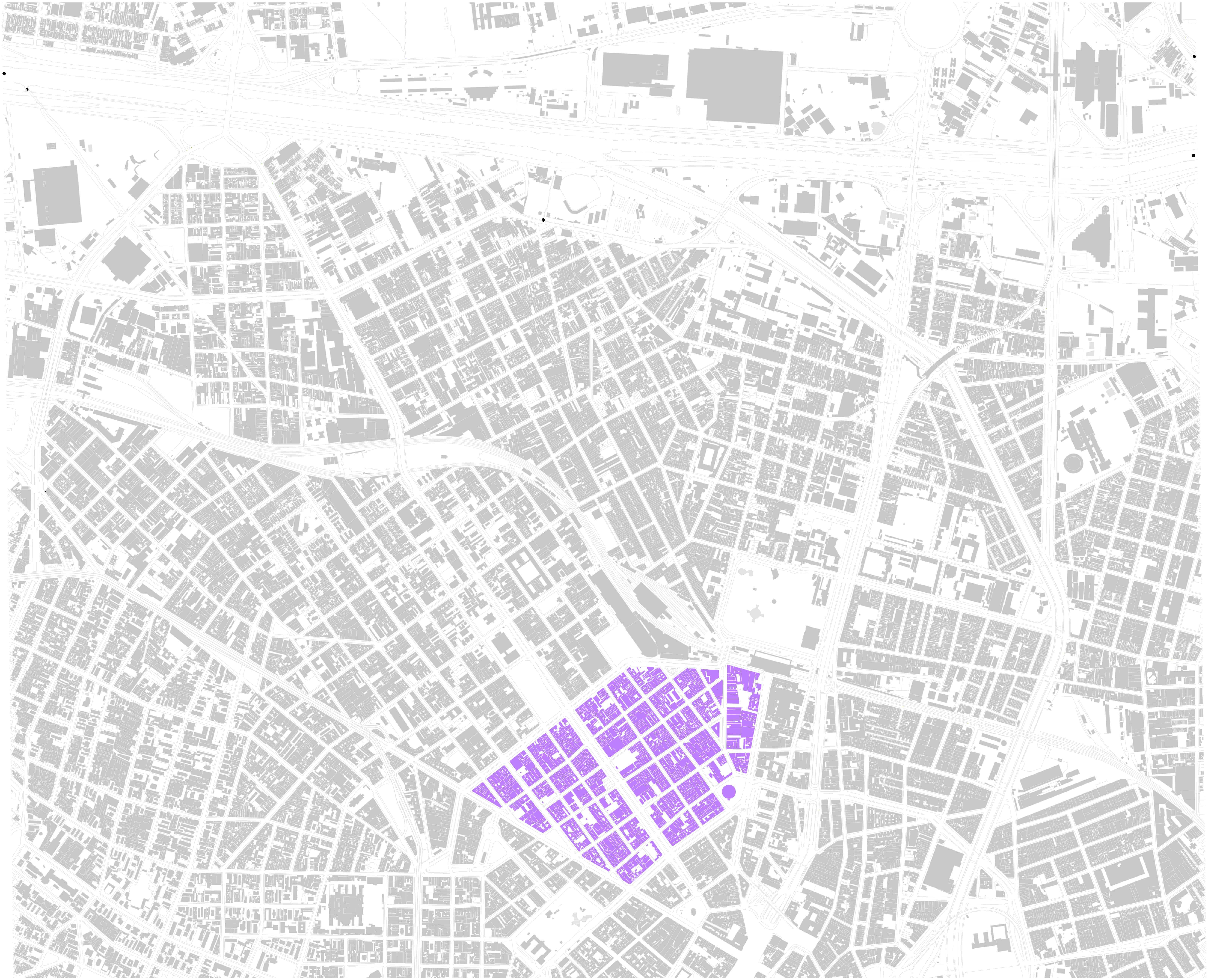 Nova Luz - Concessão Urbanística Nova Luz, 2009-2011 Escala: 1/20.000** – Elaboração do autor sobre base do MDC, Mapa Digital da Cidade de São Paulo. Fonte: Cf. PETRELLA, 2017.