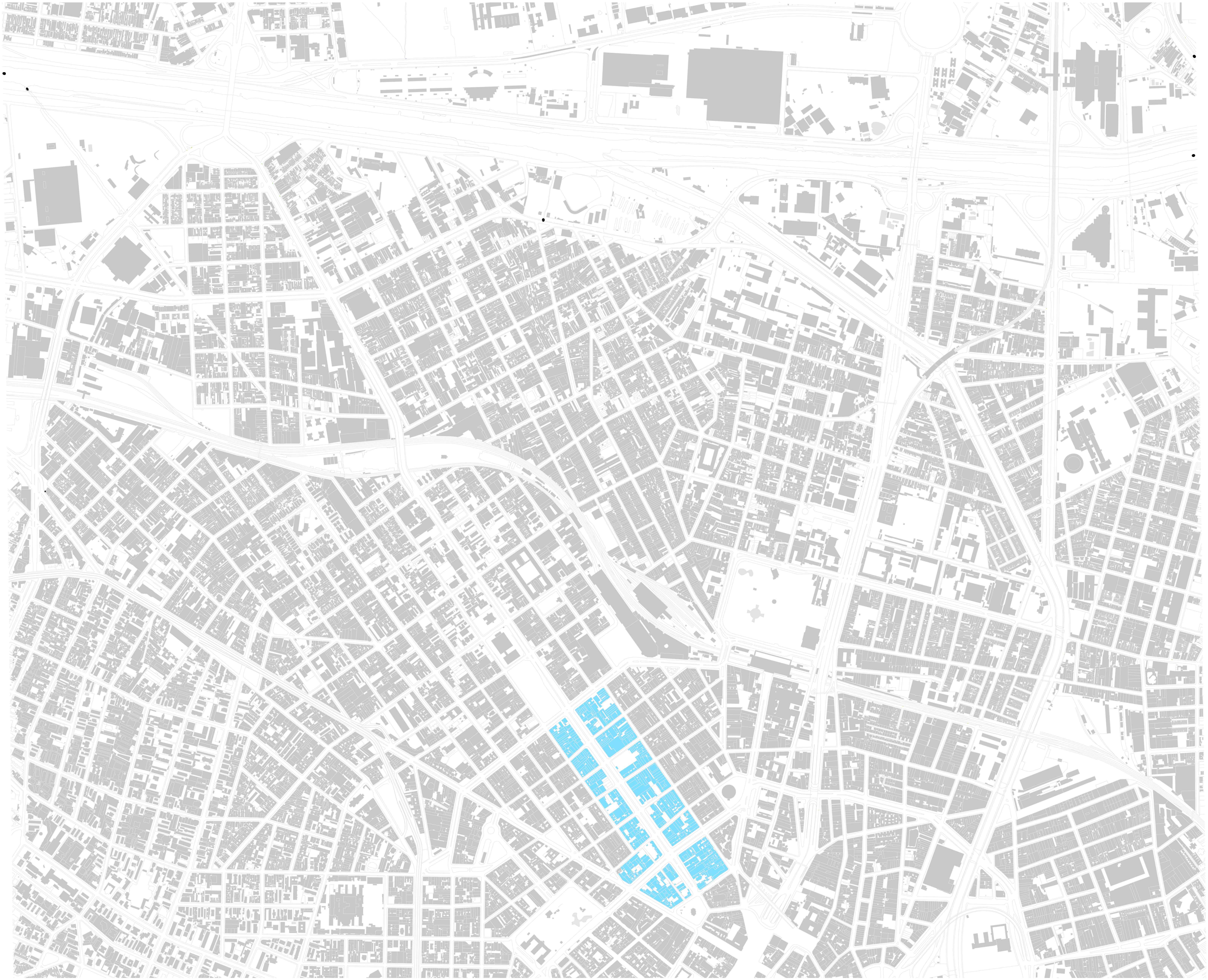 Plano de Intervenção Urbanística - Plano de Intervenção Urbanística (PIU/MP700), 2016. Escala: 1/20.000** – Elaboração do autor sobre base do MDC, Mapa Digital da Cidade de São Paulo.