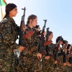 Combatentes curdas, outubro de 2016