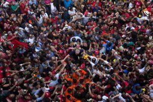 Lula antes de sua prisão em 2018 (Crédito Francisco Proner Ramos)