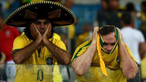 Torcedores brasileiros desapontados (Crédito Agência Brasil)