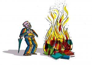 Ataques à Educação Ilustração (Crédito Cesar Habert Paciornik)