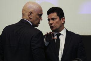 O ministro do STF Alexandre de Moraes e o ministro da Justiça e da Segurança Pública, Sergio Moro