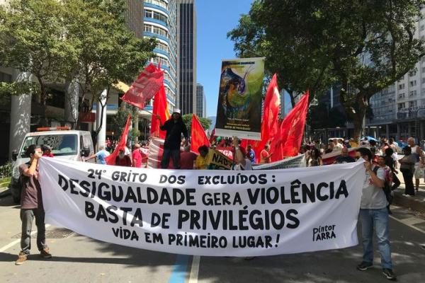 Manifestação contra desigualdade