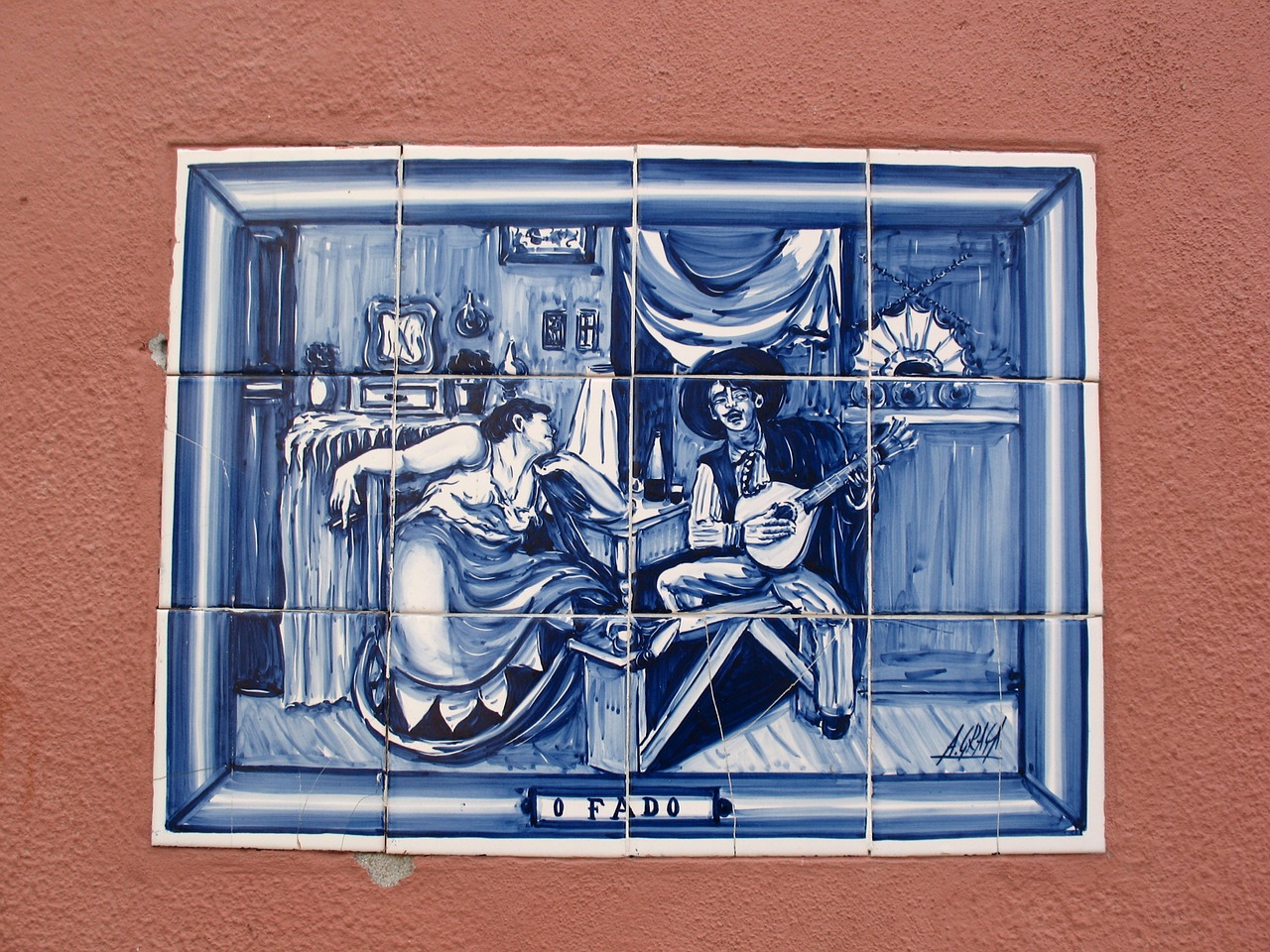 Cerâmica retrata fado em Portugal (Pixabay)