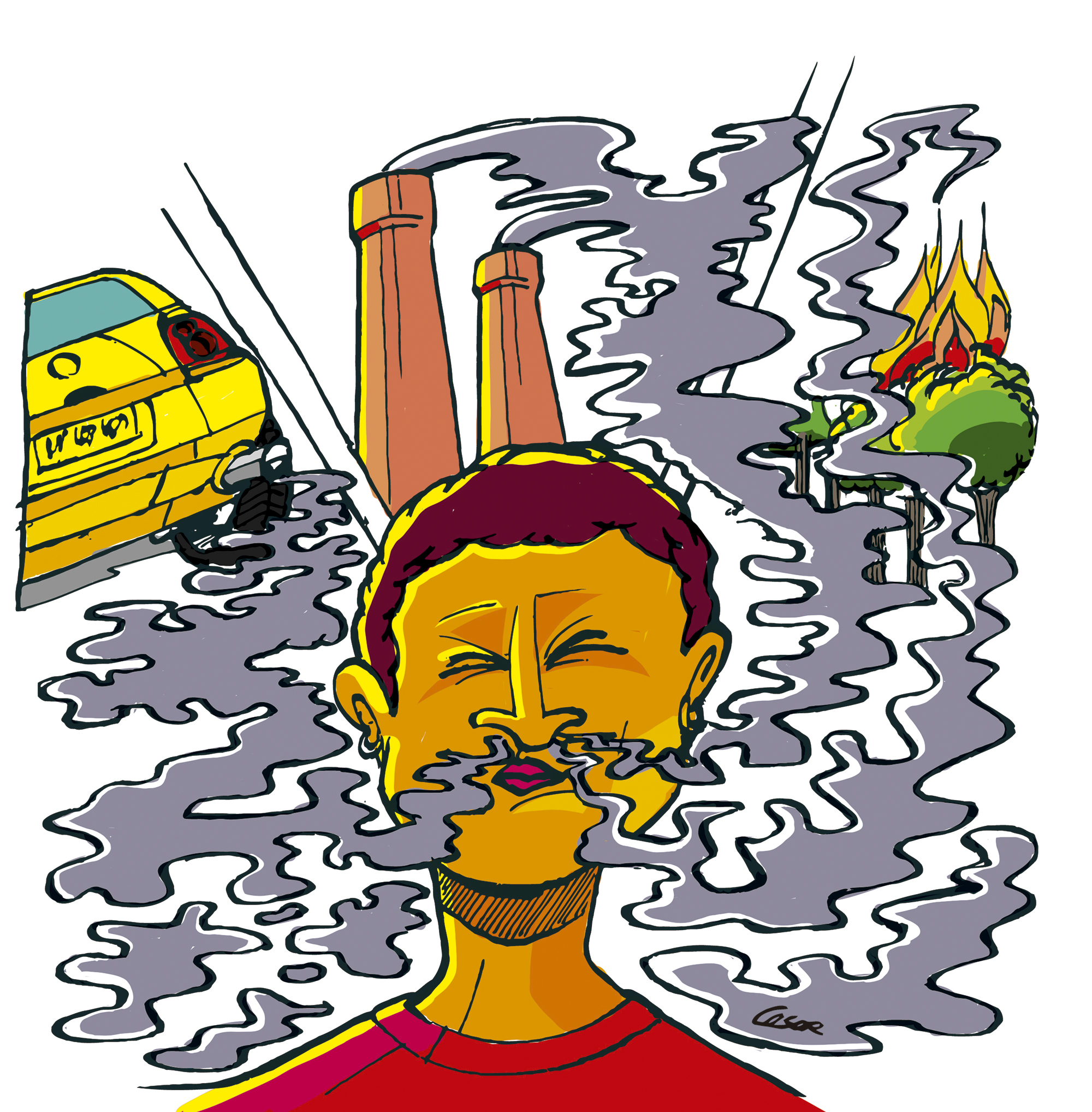 A qualidade do ar não pode estar na mesa para negociação