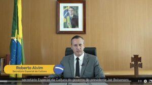 Roberto Alvim, em pronunciamento com plágio de Joseph Goebbels (Reprodução)