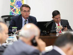 Jair Bolsonaro em videoconferência com governadores do Sul. (Marcos Corrêa/Agência Brasil)
