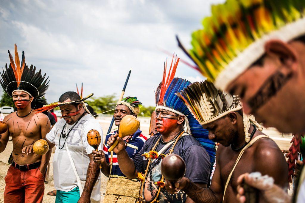 Indígenas protestam contra mineração em suas terras (Mídia Ninja)