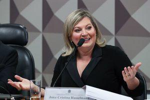 Joice Hasselmann diz em CPMI quefake news criadas pelos grupos bolsonaristas ultrapassam os ataques pessoais (Foto Lula Marques)