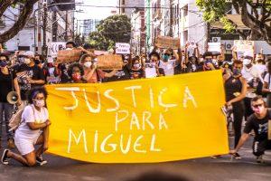 Mnifestação pede justiça por Miguel (Igor Pessoa)