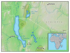 Mapa da África com a possível localização da cidade de Wakanda. (Fonte: Wikimedia Commons/crédito: Rudyologist)