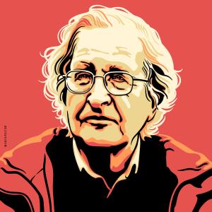 Retrato de Noam Chomsky - Arte de Cris Vector