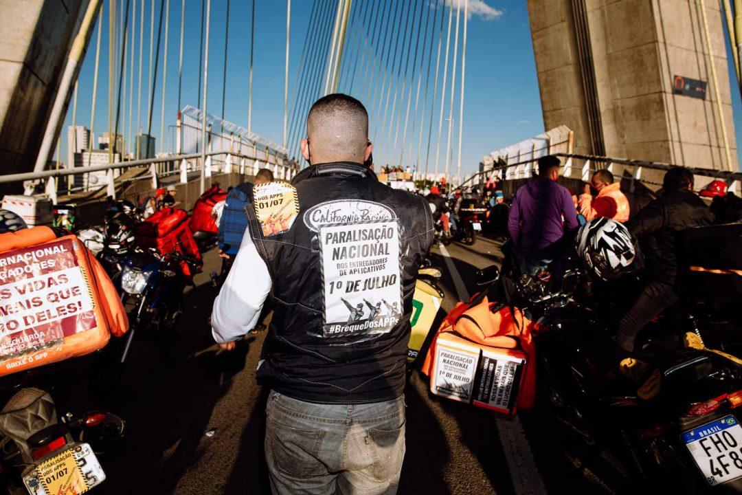 Mobilização nacional #BrequedosApps realizada no dia 01 de julho - São Paulo (Luca Meola)
