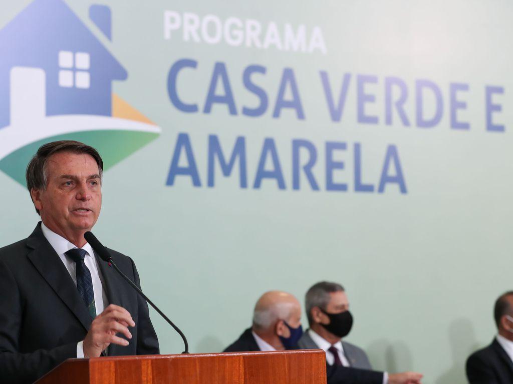 Cerimônia de lançamento do Programa Casa Verde e Amarela (Marcos Corrêa/PR)