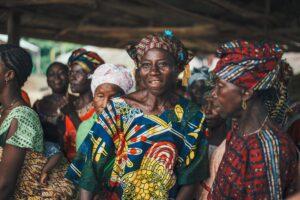 Mulheres de Serra Leoa, África Ocidental