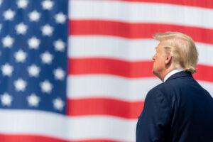 Trump em cerimônia em Nova Iorque