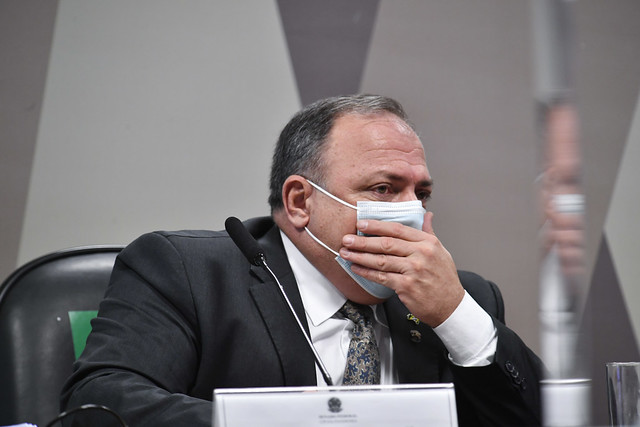 Eduardo Pazuello na CPI da Covid-19